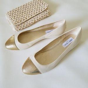 Jimmy Choo Waine Leather Flats Women's Size 8.5